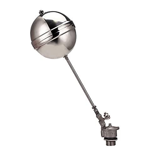 Stor flödesflottörventil, rostfritt stål 304 flytventil för varmvattenpanna, värmepump, vattentorn, lagringstank (storlek: DN20)