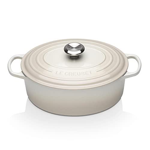 Le Creuset Enameled Cast Iron Signature Oval Dutch Oven, 5 qt. , Meringue