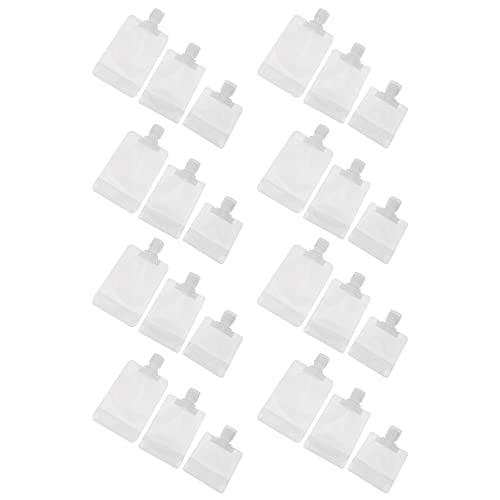 Minkissy 24Pcs Voyage Taille Rechargeable Vide Poche Stand Up Pouch pour Toilette Lotion Shampooing Gel Douche Squeezable Sacs Rechargeable Portable De Lotion Blanc
