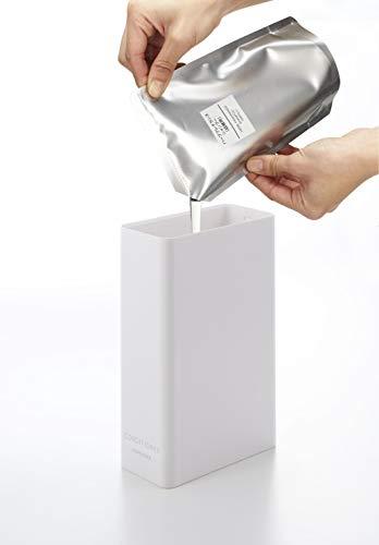 山崎実業(Yamazaki)ツーウェイディスペンサースクエアスリムコンディショナーホワイト約W5.5XD11XH23.5cmタワーポンプディスペンサーボトル4254
