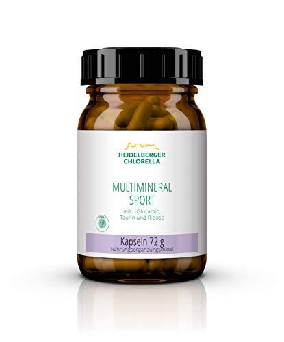 Heidelberger Chlorella Multimineral Sport Kapseln, Mineralstoffe und Spurenelemente, vegetarisch, hochdosiert, gute Bioverfügbarkeit, 120 Kapseln, 72 g