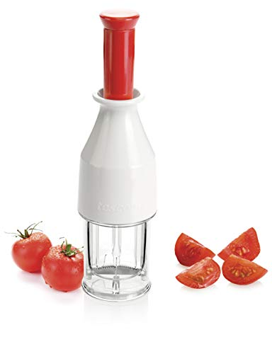 Tescoma 643557 Cortador DE Tomate Cherry Handy, Metal, Bianco/Trasparente