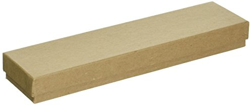 Beadaholique Kraft Brown Cardboard Jewelry Boxes (16 Pack), 8 x 2 x 1