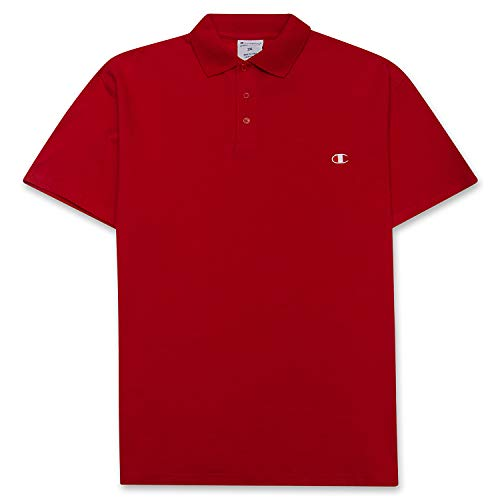 Champion Polo Shirts for Men - Big and Tall Shirts for Men - Golf Shirts for Men Red 4XLT