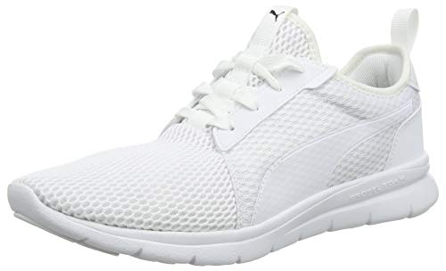 PUMA Unisex-Erwachsene Flex Fresh Sneaker - Weiß (Puma White-Puma White 02) - 44.5 EU