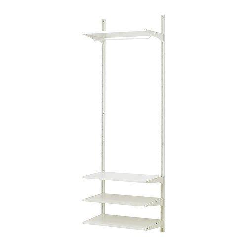 Ikea ALGOT Wandschiene/Böden/Stange Aufbewahrungssystem; in weiß; (65x40x196cm)
