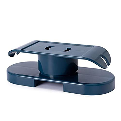CandyT Soporte Multifuncional para enchufes Autoadhesivo montado en la Pared Soporte de regleta de enchufes Giratorio Organizador de Cables fijador de enchufes (Azul Marino)
