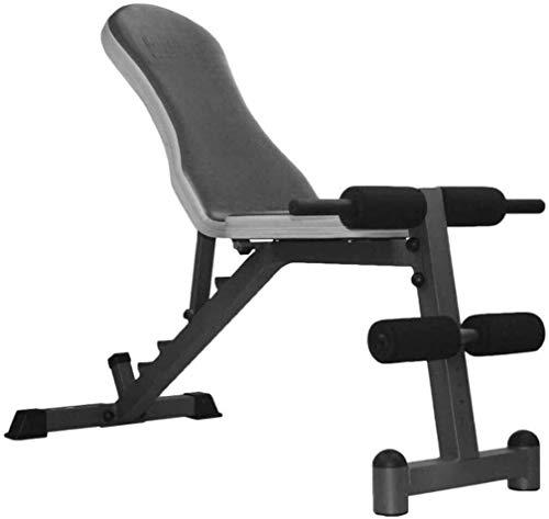 ZYLHC Verstellbare Hantelbank Faltbare Workout Bench, einstellbares Gewicht Bench Dumbell Trainings-ABS-Leg Bar Hantelbank Gym sit-up Multi-Functional Fitness-Ausrüstung, Bauchtrainingsbank