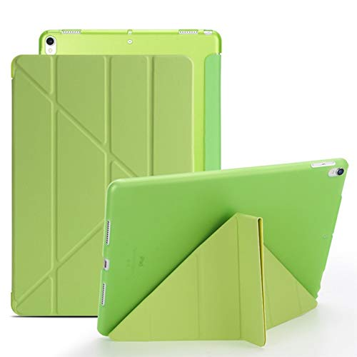 RZL PAD & TAB Fundas para iPad Pro 10.5 A1701 A1709, Transformers Slim PU Leather + Silicona Suave Back Smart Cover para iPad Air 3 2019 10.5' (Color: verde)