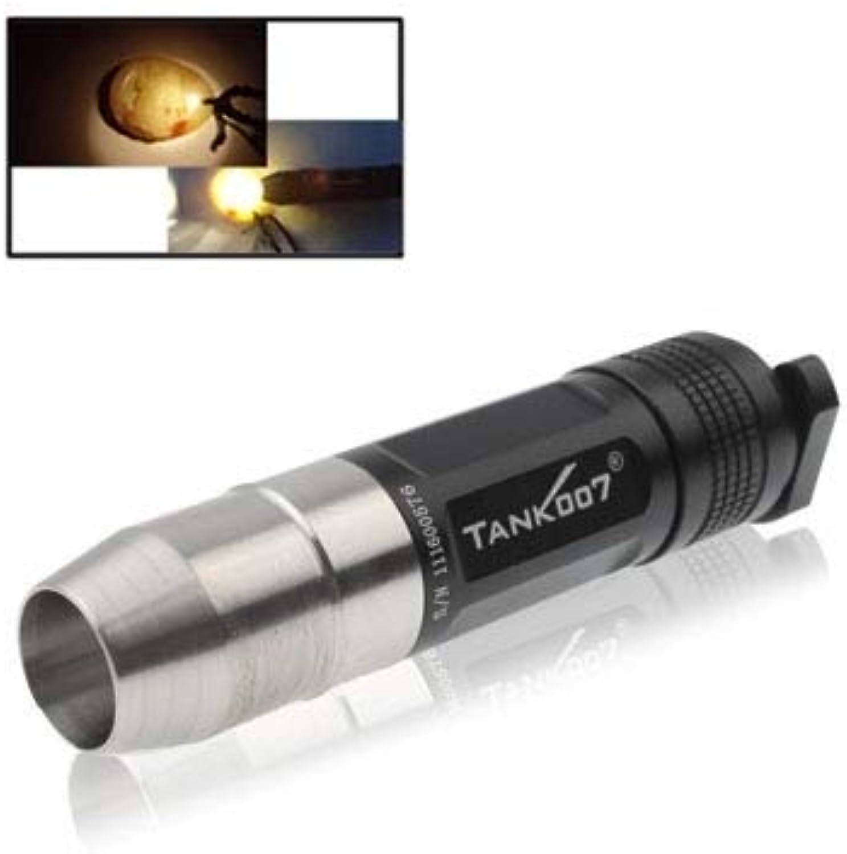Songlin@yuan Robuste langlebige Tank007 TK-360 Jade-Bewertung XR-E Q5 CREE 1-Modus 150lm Taschenlampe mit Edelstahlkopf Erleuchtung