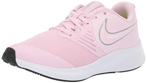 Nike Unisex-Kinder Star Runner 2 (GS) Sneaker, Pink (Pink Foam/Metallic Silver-Violet 601), 40 EU