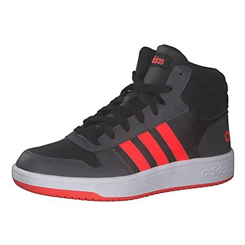 adidas Hoops Mid 2.0 K, Zapatillas, NEGBÁS/Rojsol/GRISEI, 34 EU