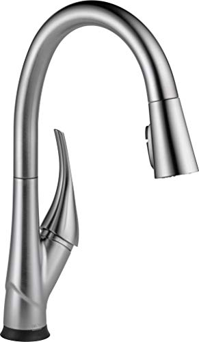 Delta Faucet Esque VoiceIQ Single-Handle Touch Kitchen Sink Faucet with Pull Down Sprayer, Alexa and Google Assistant Voice Activated, Smart Home, Arctic Stainless