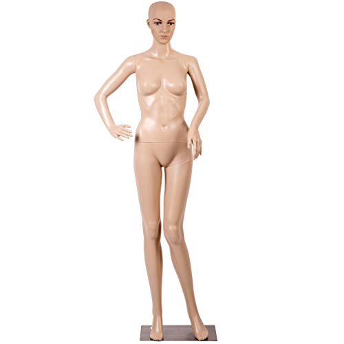 Female Full Body Realistic Mannequin Display Head Turns Dress Form w/Base