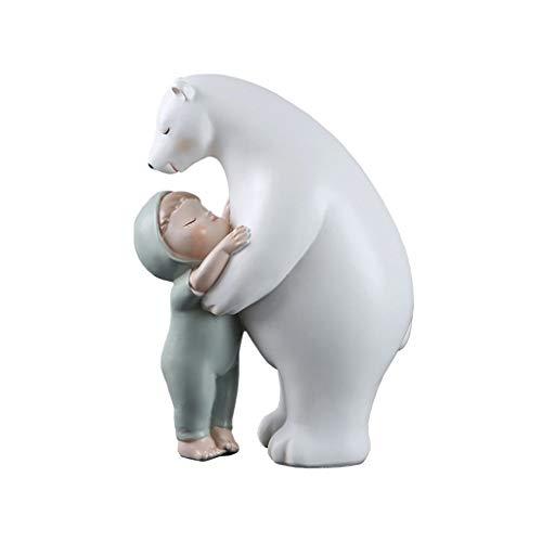 Escultura de oso polar blanco de resina, decoración moderna para estatuas del hogar (color: D)
