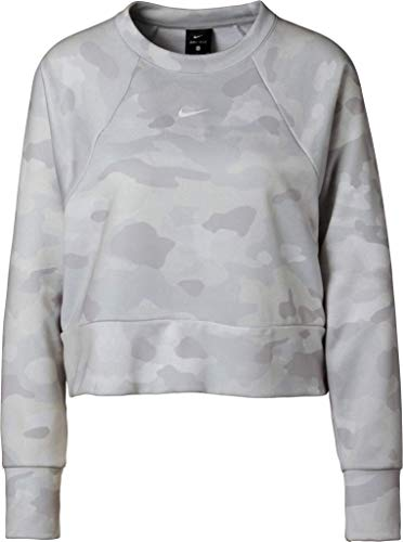 NIKE Rebel Dy All in FC Crew Camo - Sudadera para Mujer, Unzutreffend, Evergreen, Rebel Dy All In FC Crew Camo - Sudadera, Mujer, Color Color Dorado/Negro., tamaño Large