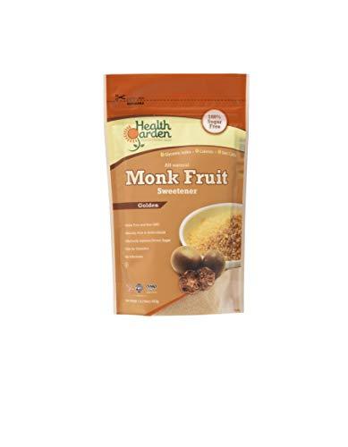 Health Garden Classic Monk Fruit Sweetener - Kosher Low Carb Gluten Free Sugar Substitute, 40 Packets