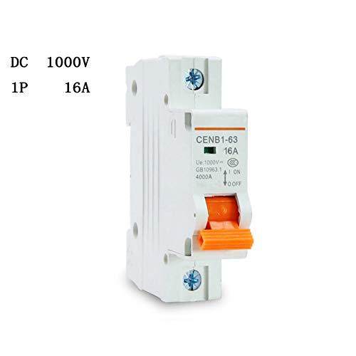 1P Dc 1000V 16A Interruptor Automático Dc Interruptor Automático Solar Dc Mcb Para La Comunidad Solar Fotovoltaica Global