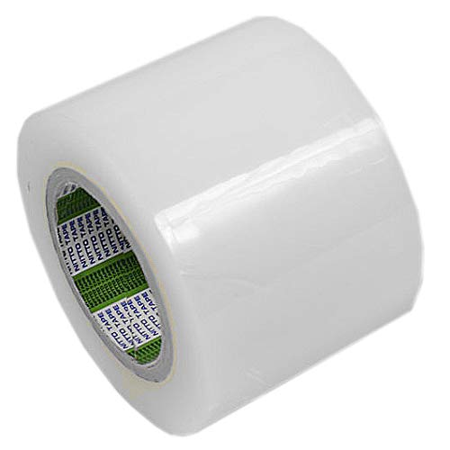 Cinta Adhesiva Ancha Transparente para Reparación de Plástico de Invernaderos, Toldos, Piscinas, Láminas Aislantes, Films para Jardín y Cultivo, Resistente al Exterior Sol UV Lluvia | 10cm x 50m