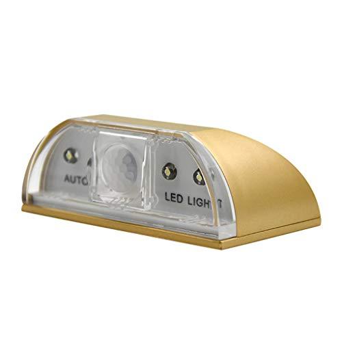 Xshuai LED Intelligente Türschloss Kabinett Schlüssel Induktion Kleine Nachtlicht Sensor Lampe (Gold)