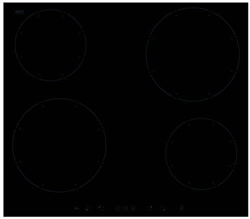 Amica KMI13311C plaque - plaques (Intégré, Induction, Noir, senseur)