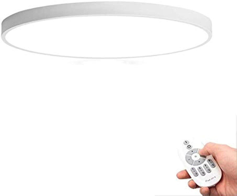 LED Deckenleuchte Runde 5CM Ultradünne Deckenleuchte Kinderzimmer Einfache Dekoration Licht (Farbe   Weiß Stepless Dimming-40CM)
