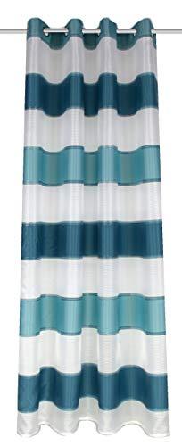 Home Fashion Rideau à œillets, Tissu, Turquoise