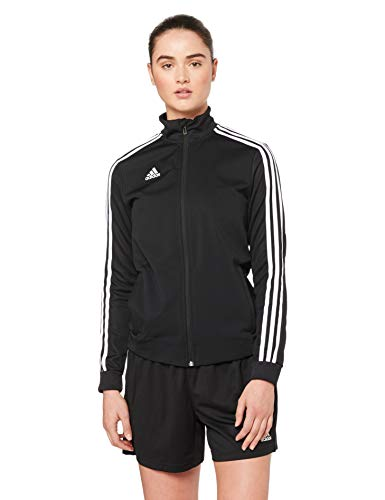 adidas Tiro 19 Training Jkt W, Felpa con Zip Donna, Nero (Black/Black/White), S