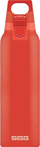 SIGG Hot & Cold ONE Scarlet Botella térmica (0.5 L), cantimplora térmica aislante sin sustancias nocivas, botella de acero inoxidable para usar con una mano
