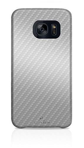 Blackrock Flex Schutzhülle für Samsung Galaxy S7 Edge, Textur Carbonfaser, dünn, Silber