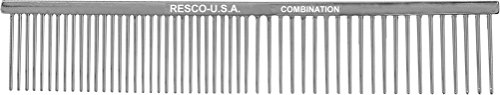 Resco US-Made Combination Comb for Dogs and Cats, Chrome