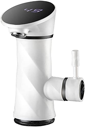ZRN Torneira de água Quente elétrica Torneira de água Quente instantânea sem Tanque de água Quente e Fria, torneira de Pia giratória com Display Digital LED, torneira elétrica de aço inoxidável