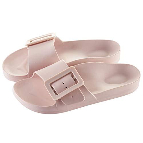 YHshop Pantuflas Playa Confort Sandalias deslizantes para Mujer Zapatillas livianas Antideslizantes para baño en la Playa Piscina Zapatillas de Agua Sandalias (Color : Pink, Size : 8#)