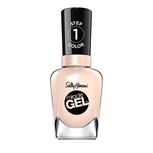 Sally Hansen Miracle Gel nagellak zonder kunstmatige UV-licht Birthday Suit, nude, met intens glanzende gel-afwerking, nr. 110, (1 x 14,7 ml) 110 Birthday Suite Kleur: 110