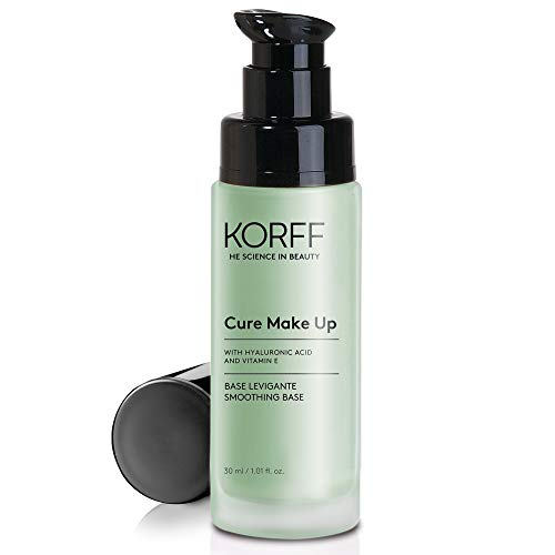 Korff Base Effetto Anti-Rossore, Primer Make Up con Acido Ialuronico, Pelle Levigata, Corregge i Rossori, Uniforma l incarnato, Migliora la Tenuta del Make-Up, 30 ml