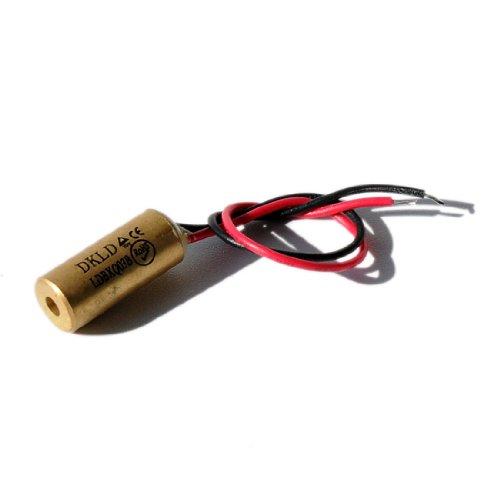 LASERFUCHS Laser par Point, Rouge, 650 nm, 1 MW, 3 V DC, Ø9x20 mm, Classe Laser 2, Longueur de câble 100 mm - 70131512