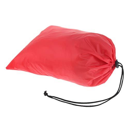 Baoblaze Sac de Rangement Cordon Serrage Sacoche de Chaussures Vêtement Stockage Imperméable - Rouge, 32 x 24cm