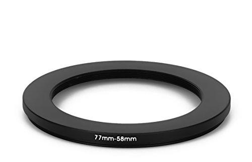 77 mm – 58 mm Filtro Adaptador de Step Down Adaptador