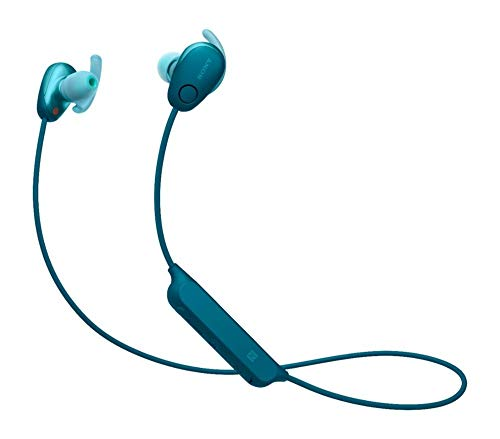 Sony WI-SP600N Wireless Noise Canceling Sweat-Resistant Sports in-Ear Headphones with in-line Mic, Blue (Non-Retail Packaging)
