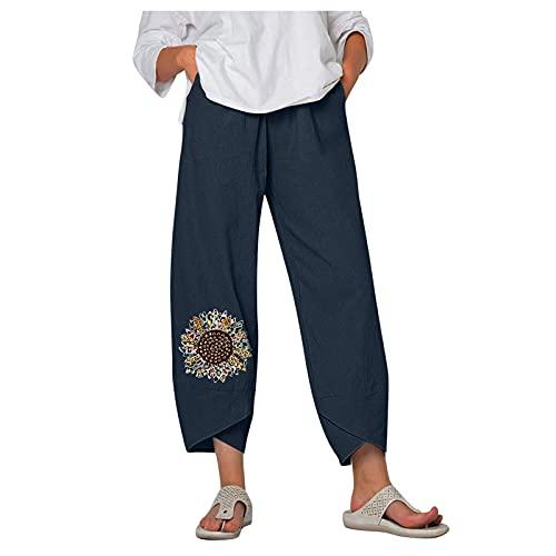 POTOU Hosen Damen Sommerhosen Damen Leicht 3/4 Outdoor Hosen FüR Damen Damen Hosen Elegant Haremshose Damen Jeans Jogginghose Damen Kurz
