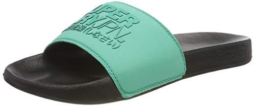 Superdry Sorrento Slide, Pantofole Uomo, Turchese (Black/Pool Blue 0ZF), 41/42 EU