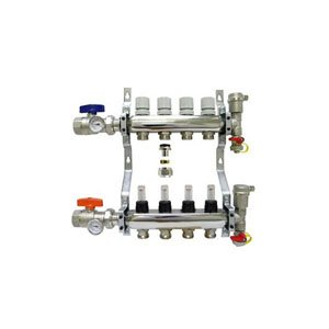 4-branch Radiant Heat Manifold Package for 1/2
