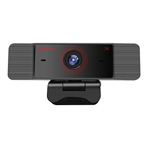 Dfghbn Cámara De Ordenador HD 2K Webcam con Micrófono USB Desktop Portátil Cámara De Cámara Web Y Reproducir Full HD Streaming Webcam (Color : Black, Size : 2k)