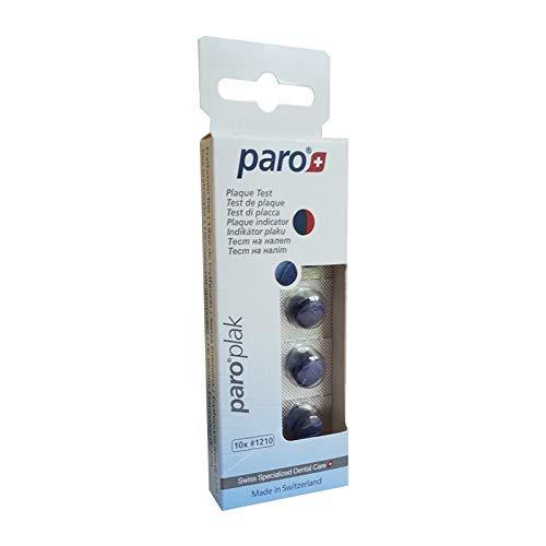 ParoSwiss paro plak, 2-Farben Tabletten, rot/blau, 10 Stück