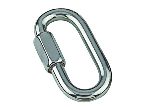 MarineNow Stainless Steel 316 Quick Link Chain Connector Marine Grade 05mm (3/16'), 10-Pack