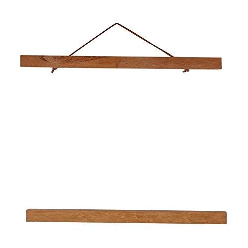 Picture Poster Frame,Modern Modern Wooden Strong Magnetic Photo Frame DIY Teak Wood Custom Poster Scroll Imprime Obras de Arte Colgar para Impresiones,Telas,decoración para el hogar,etc(30cm)