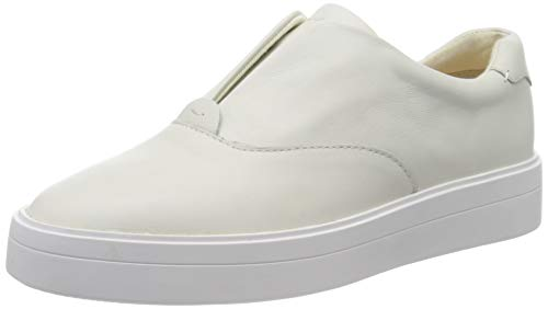Clarks Damen Hero Step. Slip On Sneaker, Weiß (White Leather White Leather), 39 EU