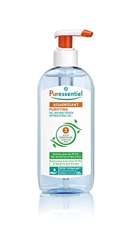 Puressentiel - Assainissant - Gel Antibactérien aux 3 Huiles Essentielles - Elimine 99,9% des bactéries et des virus - 250 ml
