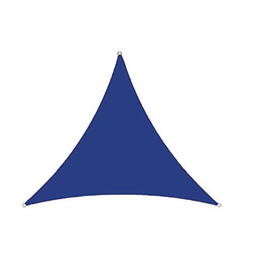 GladiolusA Sonnensegel Dreieck Atmungsaktiv Sonnenschutz Windschutz Tarp mit UV Schutz für Garten Terrasse Camping Als Bild8 3 * 3 * 3M