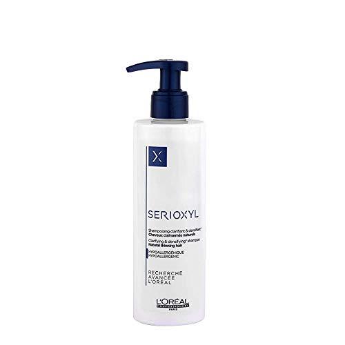 L'Oréal Professionnel Serioxyl Clarifying & Densifying Shampoo – voor natuurlijk, dunner wordend haar, hypoallergeen, 250 ml